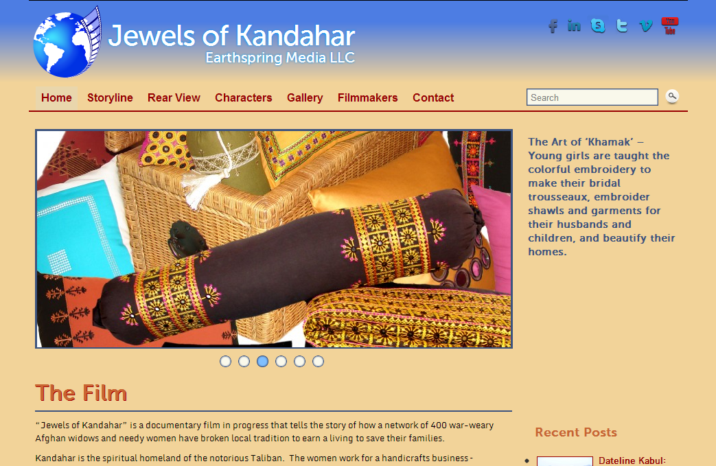 Jewels of Kandahar homepage