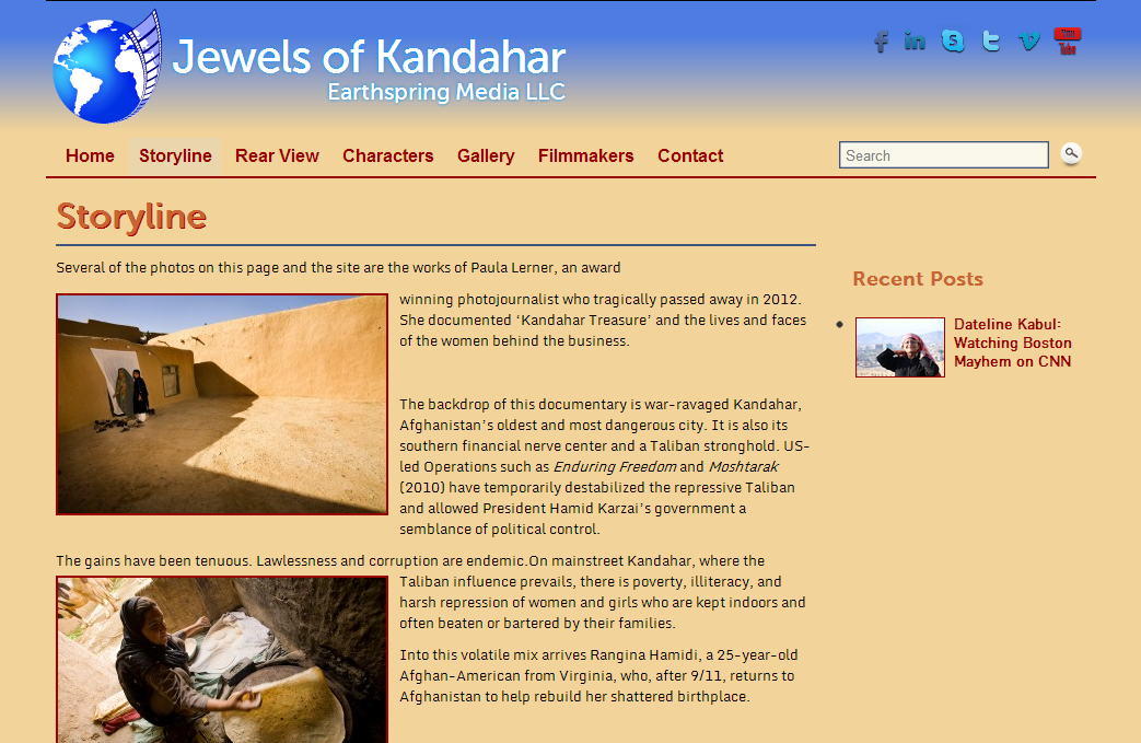 Jewels of Kandahar storyline page